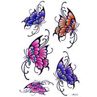 厂家直销水转印贴纸,卡通纹身贴,蝴蝶纹身贴. 精致图案