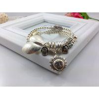来自星星的你太阳 泰国手工银 吊坠 时尚欧美范心形银手链