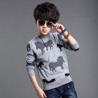 童装男童 2015春季新款时尚韩版卡通针织衫 中大童春秋款打底衫