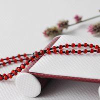 珠宝原创黄金玉器宝石珠链挂绳 混搭复古绿松石 红玛瑙