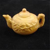 一品工艺 千年崖柏太行料手把件茶壶 养生保健文玩梅花壶厂家直销