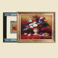 欧式电表箱专用装饰画可推拉式挂画遮挡电源盒开关有框壁画D842