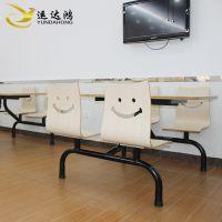 运达鸿防火板餐桌食堂四人位连体快餐桌组合快餐店连体餐桌椅组合