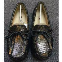 厂家批发豆豆鞋 真皮圆头浅口透气平底单鞋蜥蜴纹纯皮鞋