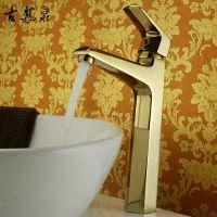 批发供应 卫生间水龙头 水暖五金洁具全铜水龙头 镀金冷热水龙头