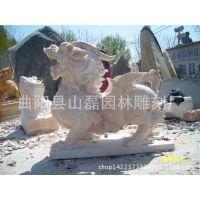 定做石雕貔貅 大理石貔貅雕刻 汉白玉貔貅石雕 门口貔貅 动物雕塑