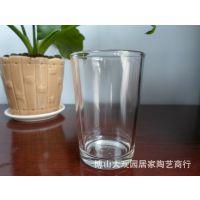 厂家批发钢化玻璃杯 斜口杯1125(花箭)硬度高 一手货源