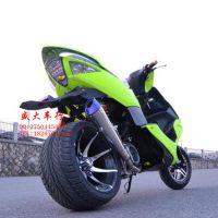改装雅马哈鬼火一代12寸整车两轮踏板车宽轮胎助力车150cc摩托车