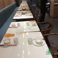 运达来家具现代中式 大理石餐厅桌椅 西餐厅桌椅 茶餐厅大理石餐桌
