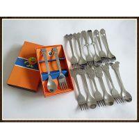 厂家小额批发|心形勺叉|婚庆礼品餐具|不锈钢勺叉|开心笑脸彩盒