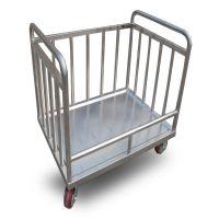 【厂家直销】优质餐具回收车 不锈钢餐具回收车 食堂餐具回收车