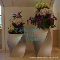 玻璃钢艺术花盆组合 商场过道创意装饰花盆 抽象奇异造型花盆定做