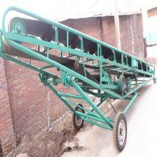 固定式水平输送机 倾斜手摇升降运输机 工地运输物料耐磨皮带机