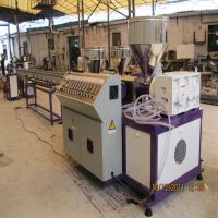 精东塑机SJ55/0*2三色塑料仿藤挤出机生产设备