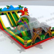 云南室外鲨鱼充气滑梯 儿童游乐设备生产厂家