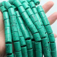 厂家定做批发 湖北绿松石 绿松石DIY配件 绿松石圆柱形配件3359