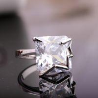 速卖通外贸畅销正品奥地利水晶925银色单钻戒指戒指 欧美指环混批