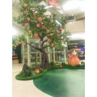 广东厂家仿真树定做 仿真水果树 苹果树桃子树 承接工程设计方案