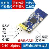 2.4G zigbee无线串口收发模块 CC2530数据透传 点对点广播模式TTL