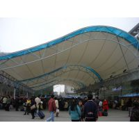 膜结构出入口雨棚 膜结构走廊通道防晒棚