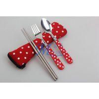 【名瑞】便携不锈钢叉勺筷餐具 学生套装 旅行餐具 中秋国庆礼品