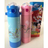 正品Disney迪士尼不锈钢保温杯维尼熊儿童吸管运动水杯500毫升