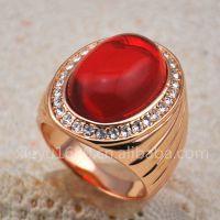 B01508 新款热销精品宝石首饰 外贸 韩版 时尚 红绿蓝 宝石戒指