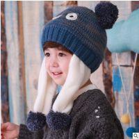 秋冬新款男女童帽儿童冬帽 幼儿保暖大眼睛造型帽韩版 MZ0249