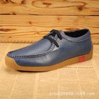 广州厂家直销高端纯手工男鞋 休闲皮鞋头层牛皮 男士时尚板鞋批发