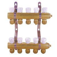 全铜地暖分水器2路 3路 4路 5路 6路地暖集水器 地热分水器配件
