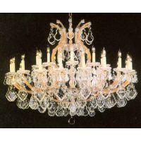 中元之光供应家居场所精美水晶吊灯精致玻璃蜡烛灯别墅欧式灯销售