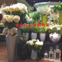 家居软装花艺摆饰不锈钢花盆供应 会所装饰不锈钢花器定制