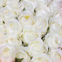 高仿真塑料白玫瑰花 婚房婚车婚礼玫瑰花束批发 情人节玫瑰花求婚