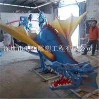 大型仿真恐龙玻璃钢雕塑 卡通动物公园游乐园装饰摆件 玻璃钢恐龙展览雕塑模型摆件 幼子小恐龙雕塑