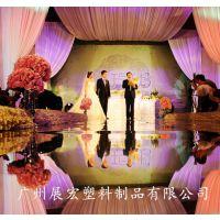 广东直销婚庆镜面地毯银色亮面T台地毯PS板材