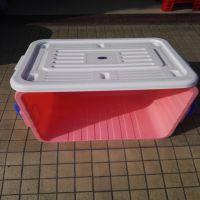 批发零售 透气性佳现货标准尺寸加厚收纳箱PP塑料整理箱 家居储物箱