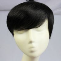 供应名仕MOSFA真发补手织发快逼真人发发块自然透气遮白发大发量假发发块6