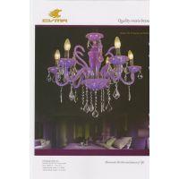 CVMA厂家直销 6013C-6A-purple欧式蜡烛白炽灯客厅 酒店水晶灯