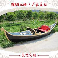 手划木船 威尼斯贡多拉 欧式木船 服务类船