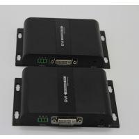 DVI单网线延长器120米带RS232,DVI网线传输器