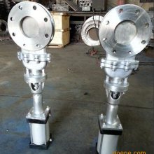 铸钢气动刀型闸阀/PZ673H-16C DN700 热销DN125KGD双闸气锁放料阀 陶瓷刀型闸阀
