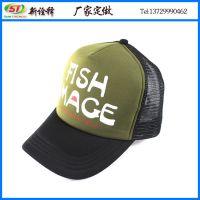 帽子工厂定制欧美百搭遮阳货车帽 机车网帽 承接各类印刷广告网帽