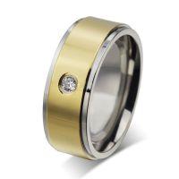 欧美外贸速卖通货源 简约大方镶钻钛钢戒指 男士戒指 指环淘宝