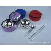 201不锈钢单人餐具碗勺筷组合 茶餐厅不锈钢餐具套装 旅行餐具