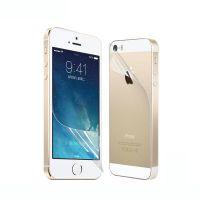 iPhone 5s保护膜 高清防刮PET贴膜 苹果手机前后膜可配中性包装