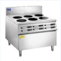淮安六眼煲仔炉价格亲和力牌 QHL-SBL3.5KW-6不锈钢面板防水防油