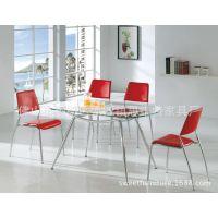 供应家用餐桌 钢化玻璃餐桌 餐馆玻璃桌子 餐厅家具家私批发