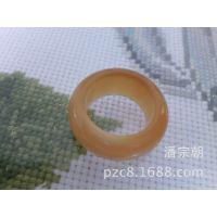 朝阳工艺;天然非洲白牦牛角戒指,挂件,饰品40mm*8mm
