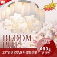 现代简约LED客厅灯 餐厅书房灯具圆形大厅灯饰温馨大气卧室吸顶灯
