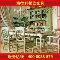 五年质保 田园户外板式餐桌椅 时尚双人餐台 深圳专业定做
